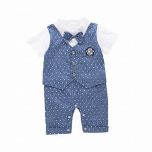 Infants Boys Birthday Romper, Cute Bow Tie shirt, baby boy birthday outfit