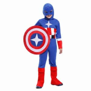 Captain America kids costume, Halloween Child Superhero Fancy Dress - Avengers Costumes