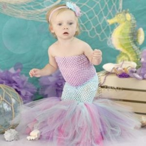 Little Girls Mermaid Tutu Dress Costume - little mermaid tutu outfit