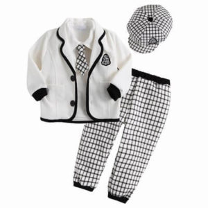 5 Pcs Page Boys Birthday Clothing Outfit Children Formal wear
