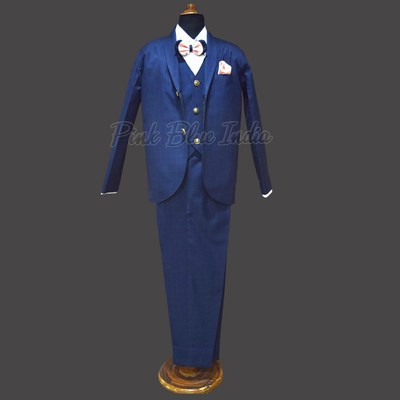 5 Pcs Page Boys Birthday Outfit, Suit for Child Boy