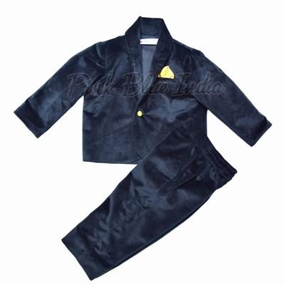 Boys Black Velvet Jacket / Blazer for Birthday Party, Wedding