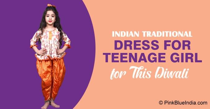 Diwali Indian Traditional Dress for Teenage Girl