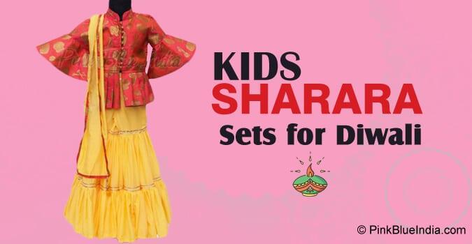 Kids Sharara Sets for Diwali
