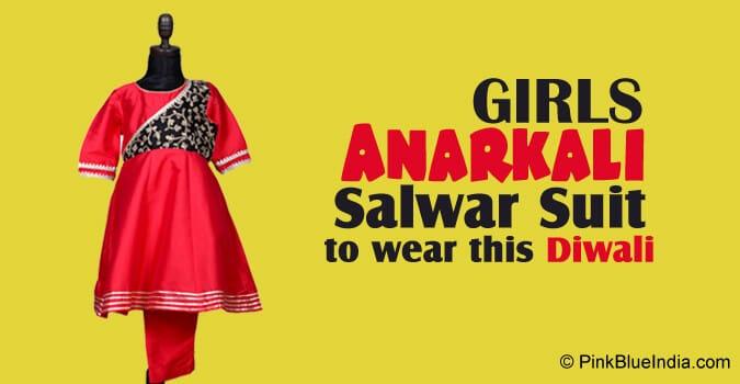 Girls Diwali Anarkali Salwar Suit