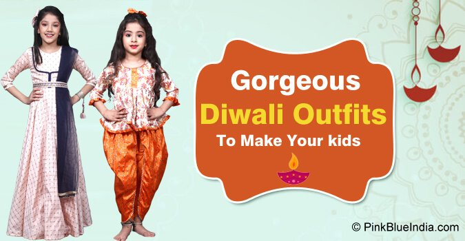 kids Diwali Outfits - Diwali Indian Kids wear, Baby Girl Ethnic Clothing