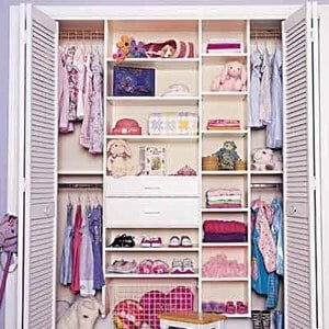 Closet with Double Rods kids