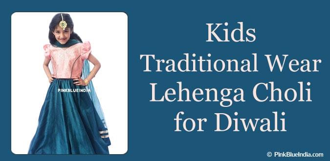 Kids Diwali Lehenga Choli