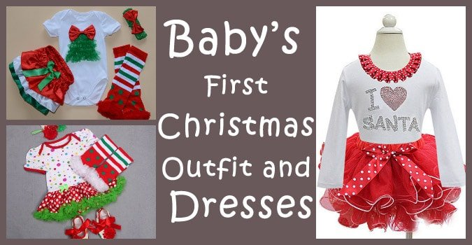 Baby's First Christmas Outfit, girls Holiday Dresses