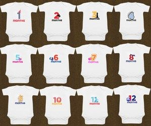 Buy Personalized Baby Milestone Onesie for 6 months Online in India