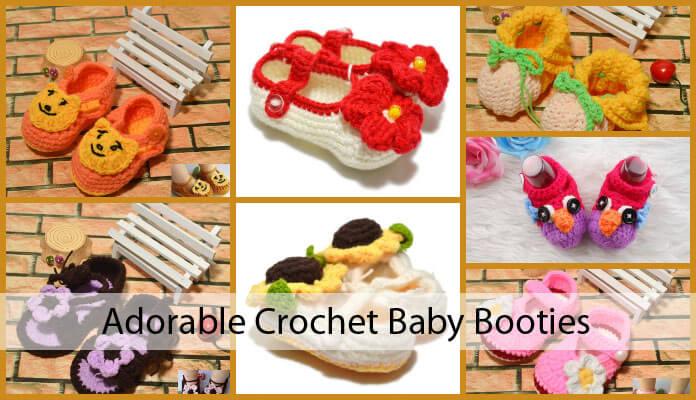 Crochet Baby Booties Beginners, Newborn, Perfect Last-Minute Baby Shower Gift