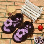 Crochet Slippers and Baby Booties with Flower