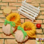 Easy Knitted Charity Baby Booties with Strings