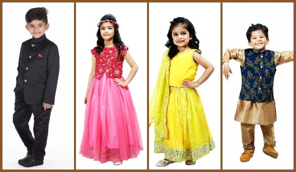 Engagement Party Kids Dresses, Indian outfits