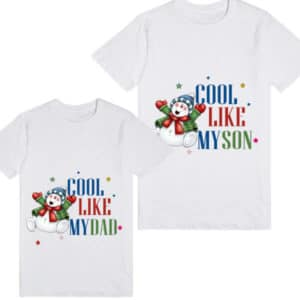 father and son Christmas Party Matching T-shirt Design