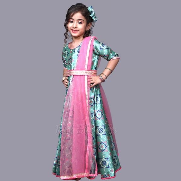 baby girl wedding dress, Kids Indian long gown