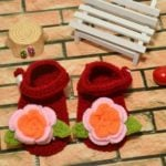 Pretty Flowers and Green Leaves Baby Booties Shoes