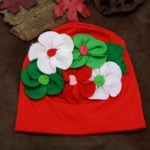 Toddler, children, baby Winter Beanie Hats with Flower