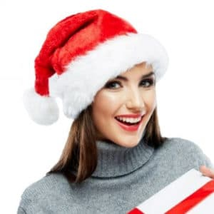 Santa Claus Christmas Party Hat for Adults, women, men