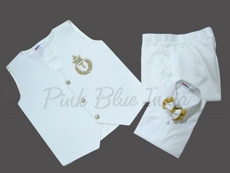 White Waistcoat for Boys, Boys Waistcoat Suit