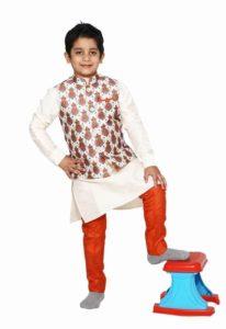 Baby Boy Designer Kurta Modi Jacket Pant Cut Pajama Party Wear Kurta Pajama