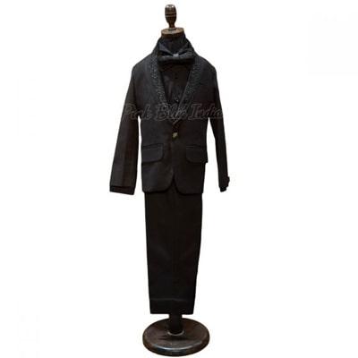 Toddler Boys Black Tuxedo, Little Boy Party Wear Suit