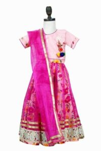 Buy Pink Color Lehenga Cholis Dupatta Children Lehenga online India