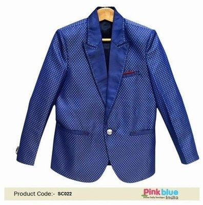 Baby Boy Party Wear Blazer India - Kids Summer Jacket for Wedding