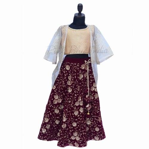 Girls Indian Wedding Lehenga - Baby Lehenga Dress