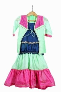 Kids Gaghra Choli for 1 year old Girl, 2 Piece Set Baby wedding lehenga
