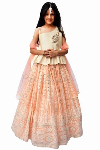 Designer Kids Party Wear Lehenga Choli - Girls Lehenga