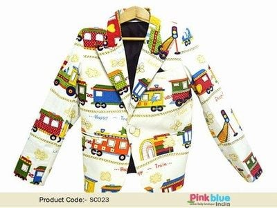 Party Wear blazer for kid boy - baby boy blazer in india