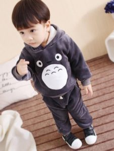 Kids Winter Warm clothing, baby Cool Cartoon Hoodie and Pant Set India