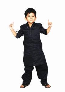 Little Boy Black Kurta Pajama Style
