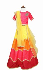 New Latest Girlish Party Lehenga Dress kids wedding Lehenga