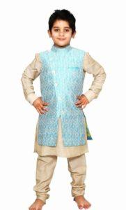 children Readymade Angrakha Style Jacket, Kurta Pajama Set baby boy