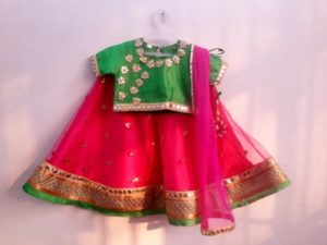 Girl Wedding Party Lehenga, Kids Indian Dresses Red, Green