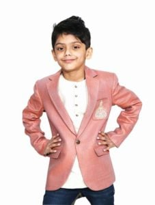Little boys Smart Blazer with Kurta Indian Wedding
