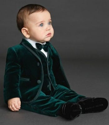 Wedding Party Suit, Birthday Green Boys Velvet Suit
