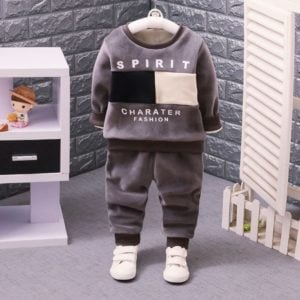 Toddler Boy Fleece Warm Sweatshirt and Pant Set 2 Piece Outfit