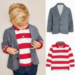 Toddler Kids Boys Grey Blazer Wedding Party