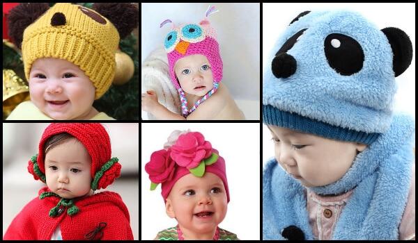 Baby Woolen Beanies, Kids winter Hats, Children Ear Muffs India