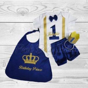 Royal Blue Boys Cake Smash Outfit Birthday