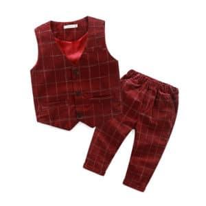 Boys Party Wear Tartan Waistcoat Pant Set - Scottish Kids Waistcoat
