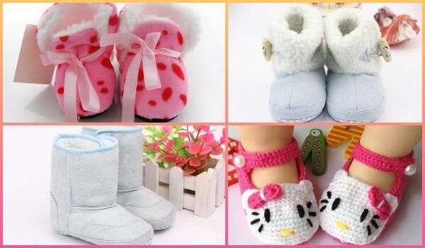 Kids Winter Boots, Crochet Booties, babies Woolen Shoes