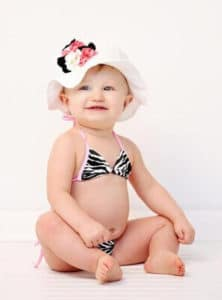 Don't forget a baby summer hat