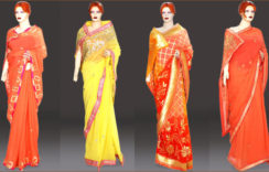 Beautiful Georgette Party Wear Sarees with Zari Work & Designer Blouse