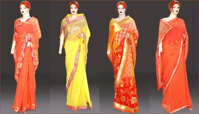 Beautiful Georgette Party Wear Sarees Zari work & Designer Blouse, Georgette Wedding Sarees