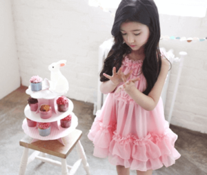 comfortable and match baby summer dress