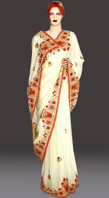 Designer Indian Wedding Bridal Heavy Blouse Saree, Jaipur Sarees